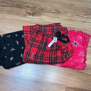 3 pair Victoria Secret Flannel Sleep Pants
